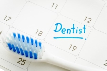 Reminder Dentist appointment in calendar